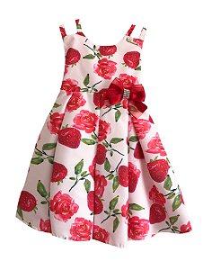Vestido Infantil Morangos