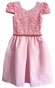 Vestido Infantil Peito de Renda