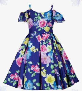 Vestido Infantil Casual estampado de alcinha