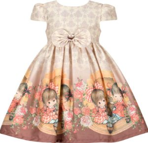Vestido Infantil barrado meninas