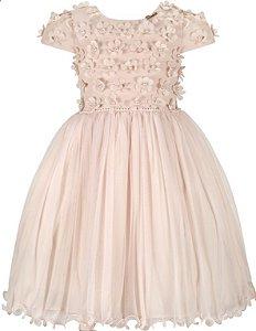 Vestido Infantil Flores 3D