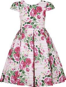 Vestido infantil Casual estampado Listra/Flores