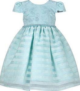 Vestido Infantil Casual saia listrada
