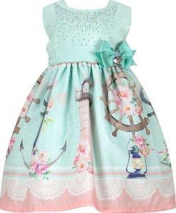 Vestido Infanti barrado de ancoras