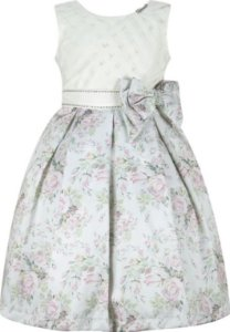 Vestido infantil Casual com peito de xadrez
