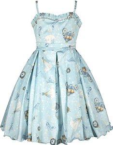 Vestido Infantil Casual estampa princesas