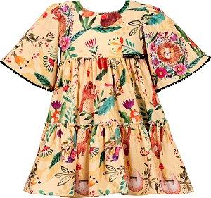 Vestido Juvenil Estampado de Bichinhos
