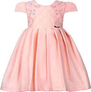 Vestido Infantil Casual de Pregas