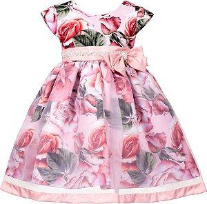 Vestido Infantil com Saia de Transparência