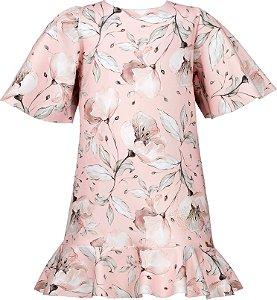 Vestido Teen de Malha com Estampa de Flores