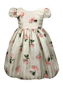 Vestido Infantil com rosas