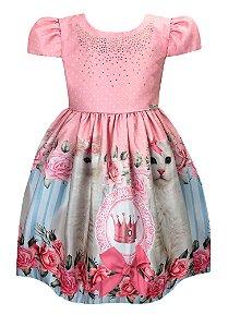 Vestido Infantil Gatinha Princesa