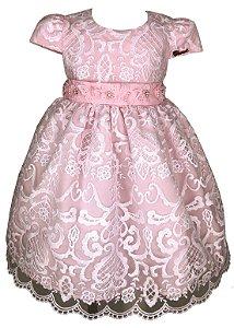 Vestido Infantil Renda Luxo