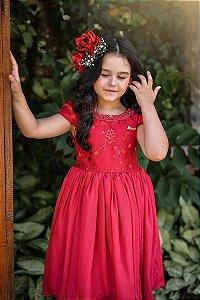 Vestido Juvenil de Festa Vermelho