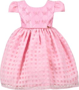 Vestido Infantil Rosa Borboletas