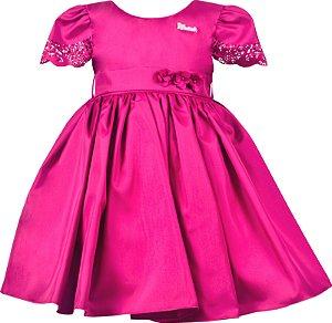 Vestido Infantil Festa Pink