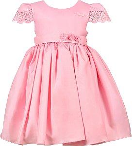 Vestido Infantil de Festa Rosa