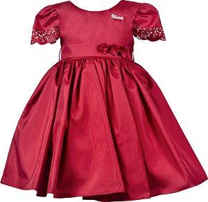 Vestido Infantil de Festa Vermelho