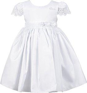 Vestido Infantil de Festa Branco