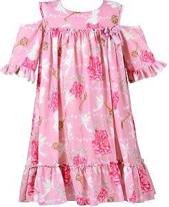 Vestido Juvenil Fadas e Flores