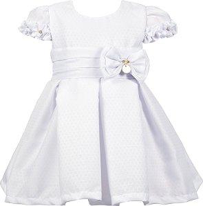 Vestido Bebê Batizado com laço