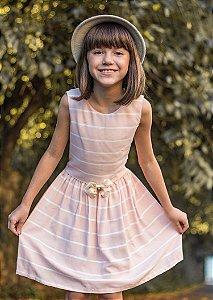 Vestido Juvenil Salmão de Listras