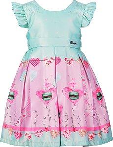 Vestido Infantil Doce Paris
