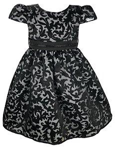 Vestido Infantil Preto de Renda
