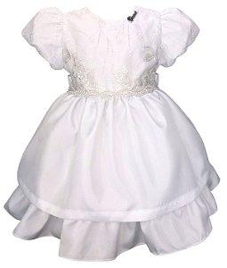 Vestido Bebê Branco com Renda
