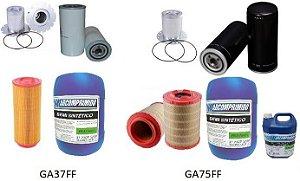 Kit de Filtros e Óleos para Atlas Copco GA37FF e GA75FF