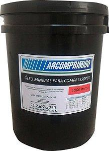 Óleo Mineral 1000 Hrs Compressor de Pistão Motomil  20l
