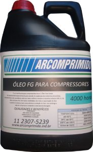 Óleo Sintético Food Grade Compressor Parafuso Fini Rotar 5lts