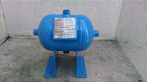 Reservatório Horizontal Ar Comprimido 3 Lts Aço Carbono Pressão 12,3kg