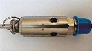 """Válvula de Segurança 1/2"""" Aço Inox Aferida e Certificada para 9kg"""
