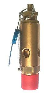 """Válvula de Segurança 1/4"""" Aferida e Certificada 8kg para Ar Comprimido"""