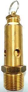 """Válvula de Segurança Alívio 1/2"""" Aferida e Certificada 175lbs 12,3Kg"""