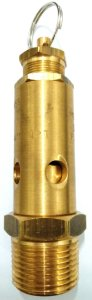 Válvula Segurança 1/2pol Latão Aferida 245psig Vazão 60scfm