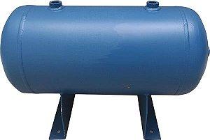 Reservatório Horizontal para Ar Comprimido 20L em Aço Carbono Pressão de Trabalho 12,3kg