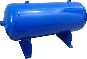 Reservatório Horizontal para Ar Comprimido 50L em Aço Carbono Pressão de Trabalho 12,3kg