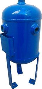Reservatório Vertical para Ar Comprimido 5L em Aço Carbono Pressão de Trabalho 12,3kg