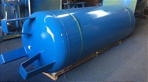 Reservatório Vertical para Ar Comprimido 500L em Aço Carbono Pressão de Trabalho 12,3kg