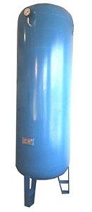 Reservatório Vertical para Ar Comprimido 750L em Aço Carbono Pressão de Trabalho 12,3kg