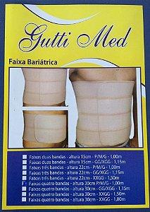 Faixa Bariátrica Quatro Bandas altura 30cm Gutti Med