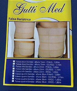 Faixa Bariátrica Três Bandas altura 22 cm Gutti Med - Pós cirurgia