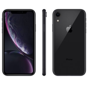 "iPhone XR Preto Apple | Tela Retina 6,1"", 4G, 64GB e Câm. Dupla 12MP - Resistente à Água"
