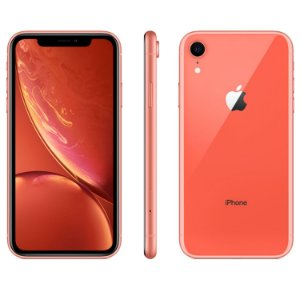 "iPhone XR Coral Apple | Tela Retina 6,1"", 4G, 64GB e Câm. Dupla 12MP - Resistente à Água"