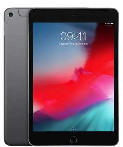 iPad mini Apple, Tela Retina, 256GB, Cinza Espacial, Wi-Fi + Celular (2019)
