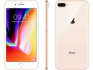 "iPhone 8 Plus Dourado Apple 64GB | Tela Retina 5,5"" - Câm. Dupla 12MP - Resistente à Água"