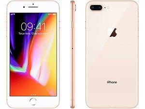 """iPhone 8 Plus Dourado Apple 64GB   Tela Retina 5,5"""" - Câm. Dupla 12MP - Resistente à Água"""