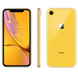 "iPhone XR Amarelo Apple | Tela Retina 6,1"", 4G, 128GB e Câm. Dupla 12MP - Resistente à Água"